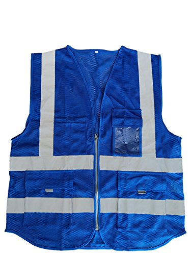 Illuminated Safety Vest - Hogear High Visibility Safety Vest Lightweight Mesh Outdoor Works Night Running Jogging Workwear