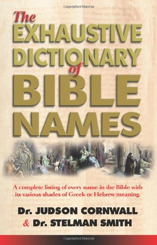 Exhaustive Bible Names Dictionary