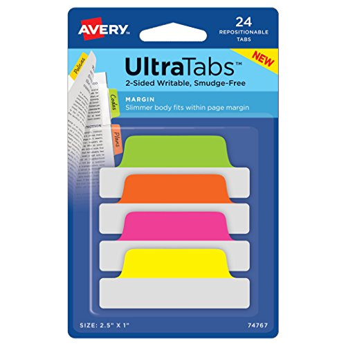 Avery Margin Ultra Tabs, 2.5