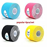 """Max-Support 2"""" X 16.4' Sport Kinesiology Tape Latex Free Hypoallergenic Athletic Tape for Sports and Muscle Recovery Injuries"""