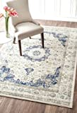 Nuloom RZBD07A-71001010 Verona Rug44; Blue - 7 ft. 10 in. x 10 ft. 10 in.