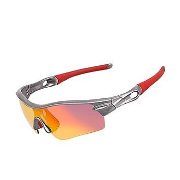 Yomeni polarisées Sports Lunettes de soleil pour homme et femme–Cyclisme, conduite, Golf de course avec incassable TR90, noir et bleu