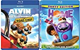 Alvin & the Chipmunks: The Road Chip & Home Blu Ray Animated Bundle Cartoons movie Set