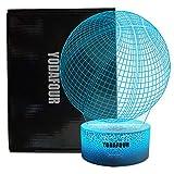 YODAFOUR Basketball Night Light 3D Visual Illusion Lamp, Xmas Halloween Birthday Anniversary, Nursery LED Bedside Table Night Lamps for Boy Children Teen Sports Lovers Bedroom Decor
