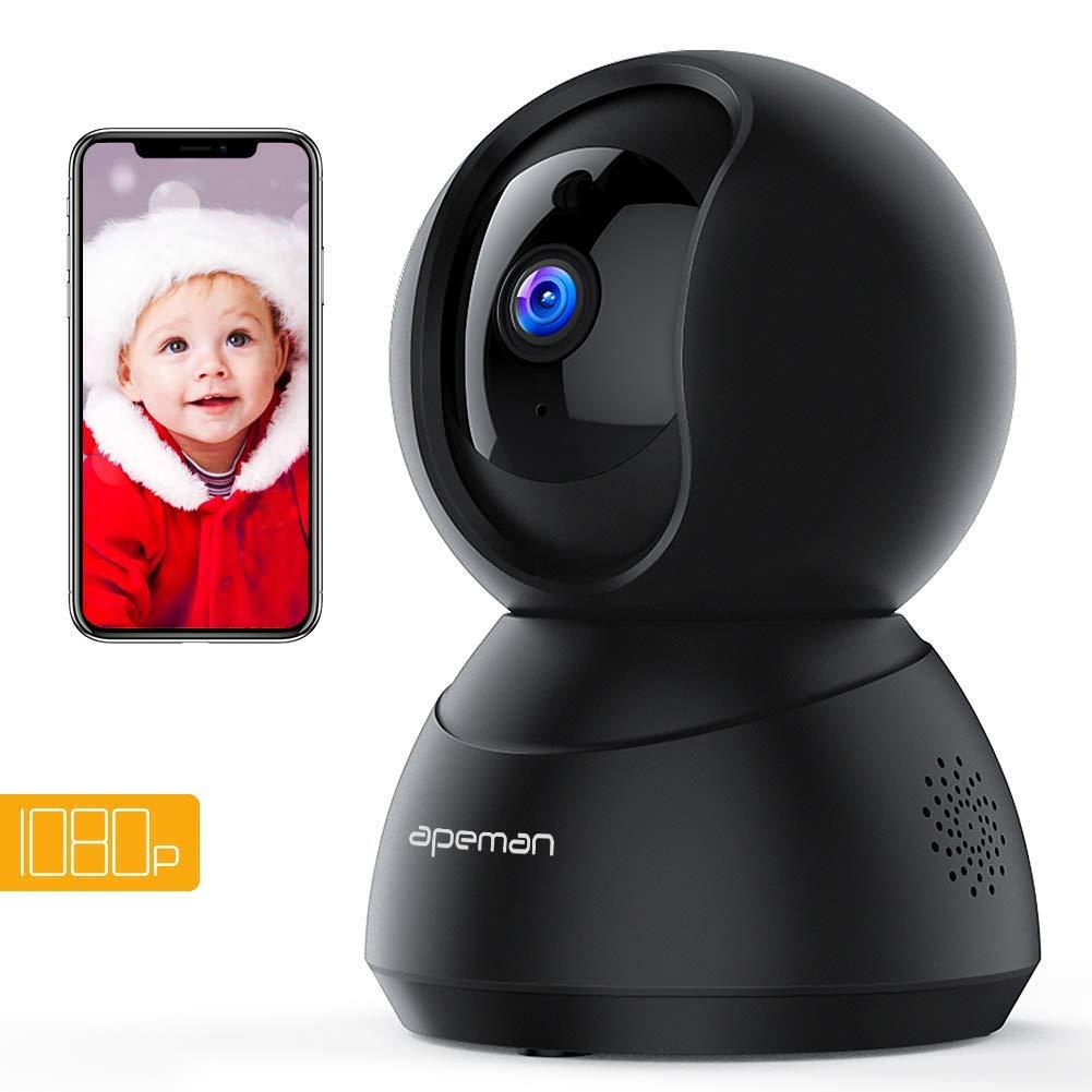 Apeman FHD 1080P Cámaras de Vigilancia WiFi Interior, Cámara IP WiFi, Visión Nocturna, Audio de 2 Vías, Detector de Movimiento...