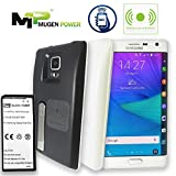 Mugen Power Samsung Galaxy Note Edge (N915) Wireless Charge NFC Android Pay Fast Charge 6000mAh Extended Battery Non-Slip Better Hand Grip Back Cover (Black)