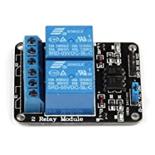 SainSmart 5V 2-Channel Relay Module for Arduino ARM PIC AVR DSP Raspberry Pi Electronic