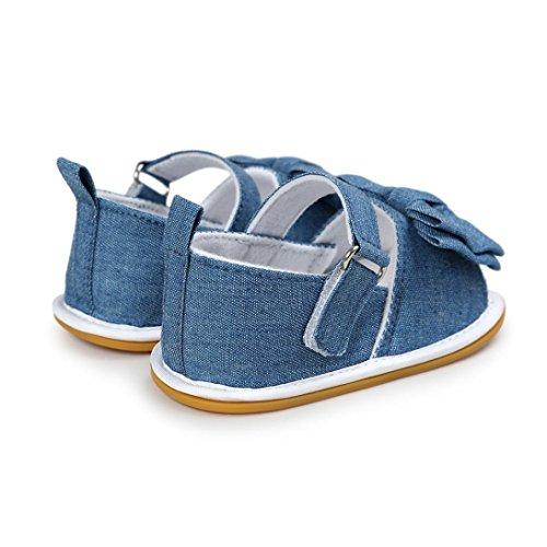 Tefamore Zapatos Sandalias de recién nacido Suela blanda Antideslizante para niños pequeños Bebé Sneakers Primavera y verano Azul