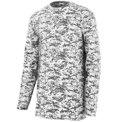 - Augusta Sportswear Youth Digi Camo Wicking Long Sleeve T-Shirt M White Digi