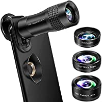 Phone Camera Lens, VPKID 4 in 1 Phone Lens Kit 14X Zoom...