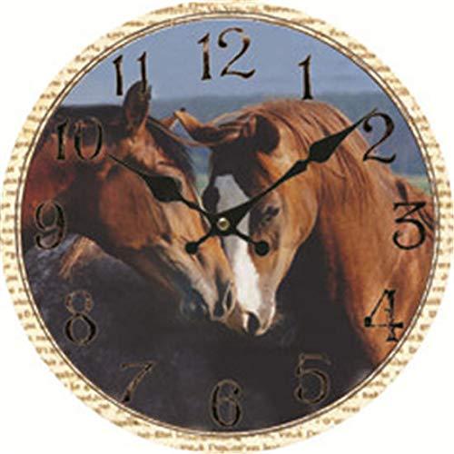 Horse Decorative Wall Clock for Women Men Teen Girls Boys Silent Wood Clock 14 Inches ()