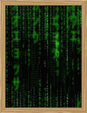 Amazon The Matrix Poster Art Print And Frame Mdf Oak Code