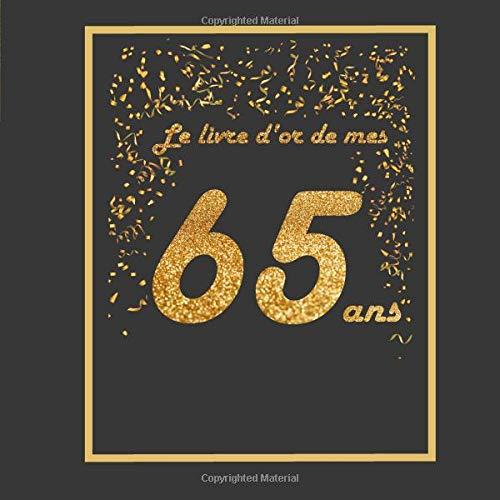 Le Livre D Or De Mes 65 Ans Theme Black Or Livre A