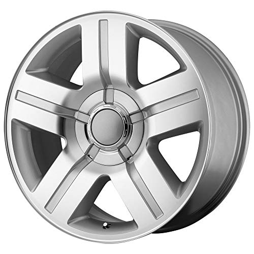 set of 4 New 24x9.5 6x139.7 +30 Texas Edition Replica Wheels Silver Machine silverado sierra Tahoe yukon suburban escalade