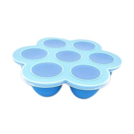 UHAoo 7 de la Copa del huevo del silicón Bites Food Bandejas ...