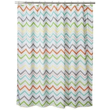 Amazon CircoTM Warm Chevron Shower Curtain Home Kitchen