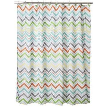 Amazoncom Circo Warm Chevron Shower Curtain Home Kitchen