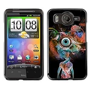 Caucho caso de Shell duro de la cubierta de accesorios de protección BY RAYDREAMMM - HTC G10 - Psychedelic Snake Eye