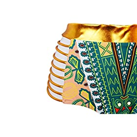 - 51eyyTxzqfL - Zando Women Tribal Print Bikini African Metallic Swimsuit Two Piece Beachwear Cutout Halter Neck Bathing Suit Swimwear
