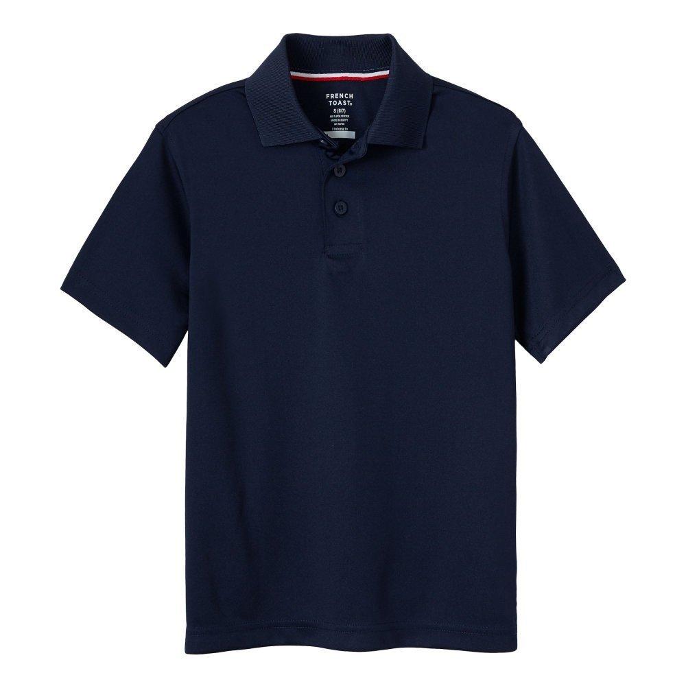 French Toast Little Boys' Short Sleeve Stretch Sport Polo, Navy, S (6/7)