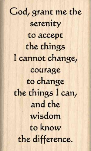Stamps by Impression ST 0826a Serenity Prayer Rubber Stamp