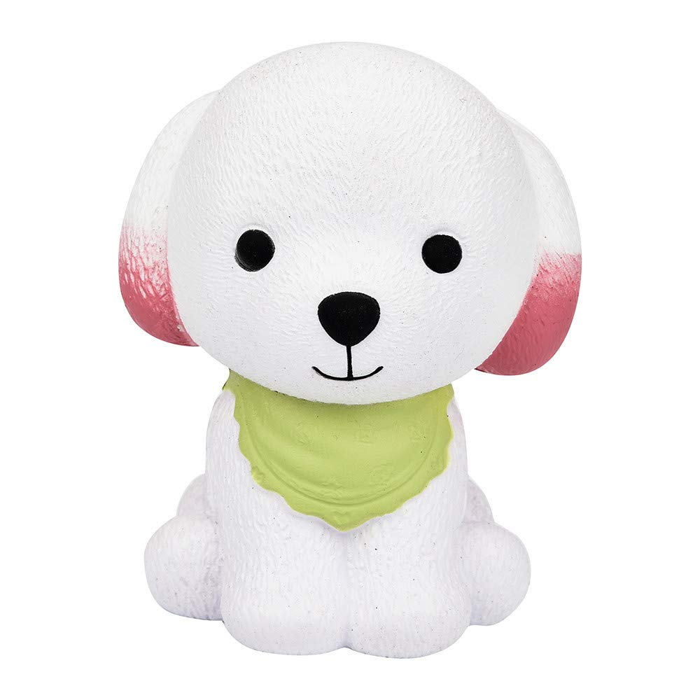 Jumbo Squishy Cute Puppy Scented Cream Slow Rising Squeeze Toys,Selinora'S Anti-Stress Cute Kawai Squishy Decompression Soft Relieve Stress Color Mixing Scented Gift for Adult Or Kids