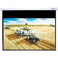 Grand Screens Classical HD+, 100-inch Diag 16:9, Electric Motorized Drop Down Projector Screen, 8JGZ100H (Diagonal 100 16:9, Classical Fiberglass white)