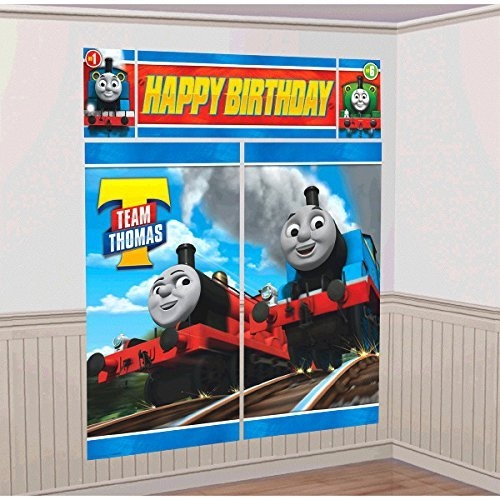 Thomas the Train Tank Engine ( Thomas & Friends ) Scene Setter Wall Decorations Kit - Kids Birthday and Party Supplies Decoration ()