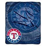 "MLB Texas Rangers Retro Plush Raschel Throw, 50"" x 60"""