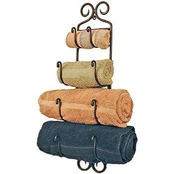 Small Adirondack Towel Rack ~Black Wrought Iron