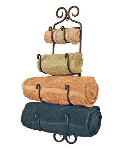 Small Adirondack Towel Rack ~Black Wrought Iron ()