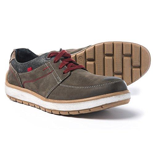 Josef Seibel Mens Rudi 29 Fashion Sneaker Vulcano / Asfalto