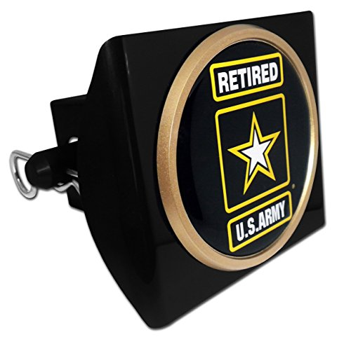 Elektroplate Retired U.S. Army Star Black Plastic Hitch ()