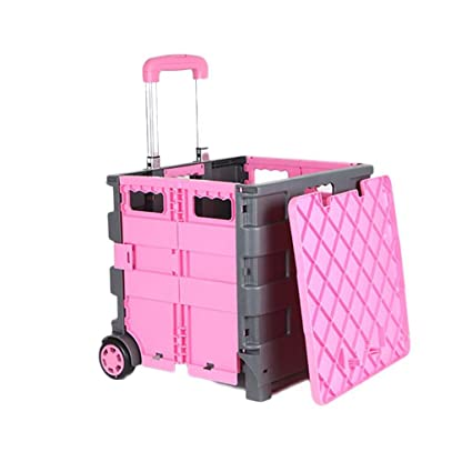 f472cca7d198 Amazon.com: Shopping Cart Collapsible Trolley Home Elderly Can Sit ...