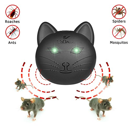 Mice Repellent -- Best Indoor Ultrasonic Pest Repeller Control for Rat, Mosquitos, Roaches, Spiders, Insects and Rodents【Humans & Pets Safe】