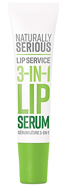 Naturally Serious - Lip Service 3-in-1 Natural Lip Serum | Clean Skincare, Vegan, Cruelty-Free, Gluten-Free (.5 fl oz | 15 ml)