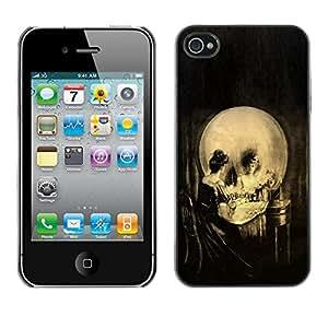 Stuss Case / Funda Carcasa protectora - Vintage del arte del cráneo - iPhone 4 / 4S