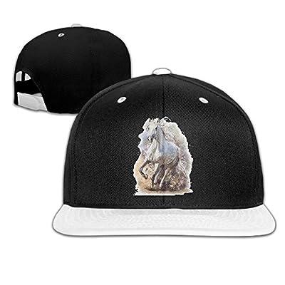Rock Punk Trucker Hat White Horse Running Unisex Baseball Cap Hip-hop Snapback White