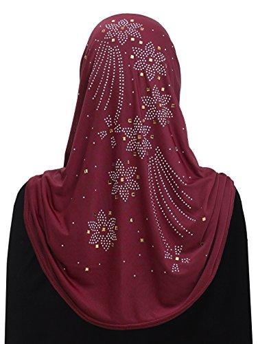 Al Amira 1 piece Aiyah Hijab Ultra Silky Lycra (Burgundy)
