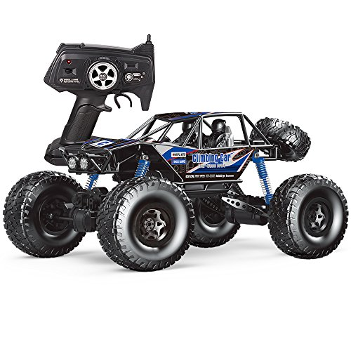 MZ RC Cars All Terrain Remote Control High Speed Vehicle 1:10 Scale 2.4Ghz 4WD Eletric RC Toys Off Road Oversized Bigfoot Monster Truck, Best Gift for Kids and Adults - Blue