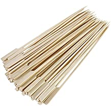 """Gmark Bamboo Paddle Sticks Skewers 12"""" 100pc/Bag, Kabob Skewers, BBQ Skewers for Outdoor Grilling GM1075"""
