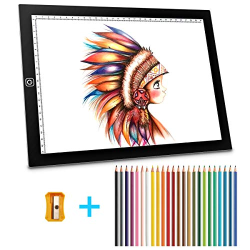A4 Ultra, Mitcien tracing Light pad Thin Portable LED Light Box, USB Power Dimmable Brightness for Artists, Drawing, Sketching, Animation -