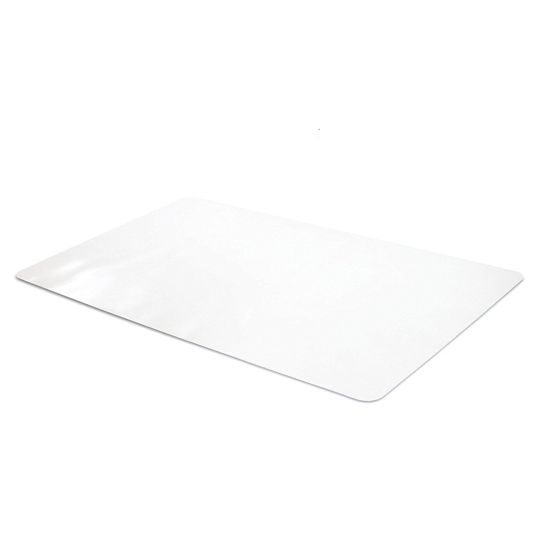 Office Desk Mat Clear Textured - 28 x 18 inch Plastic Computer Mat for Desk