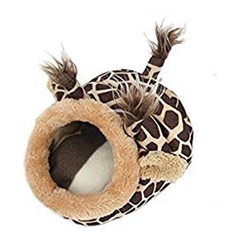 Enzhe Pet Design Incantevole Piccola Cuccia per Animali Domestici Simpatici Animali Domestici per Cani di Piccola Taglia Cat (S, Giraffe Marronee)