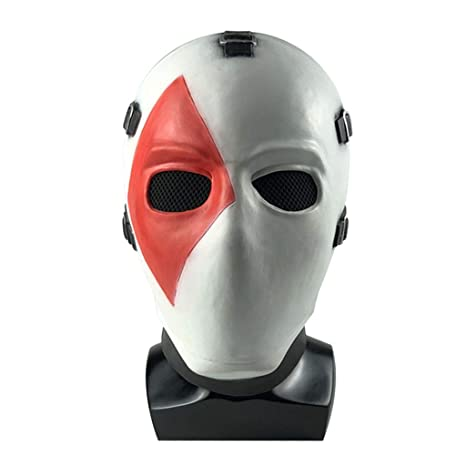 Lwwozl Halloween Mask Poker Face Mask Headgear Juego De