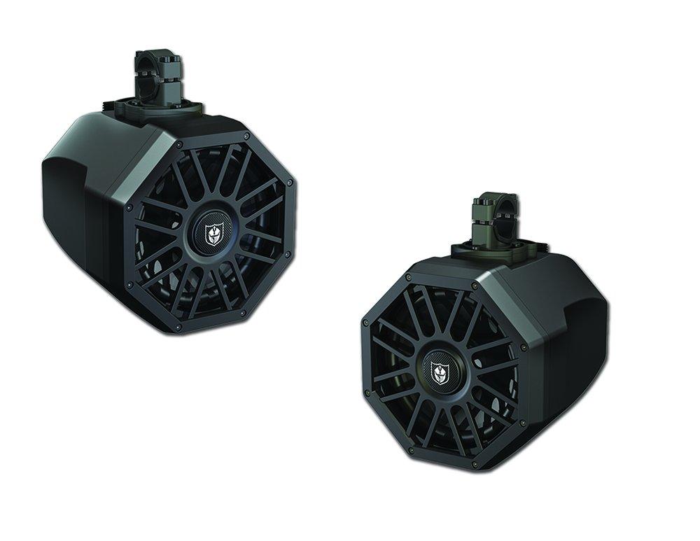 Pro Armor 8'' Powersports Tower Speaker 2-Way -with Illuminated Cones AU51018