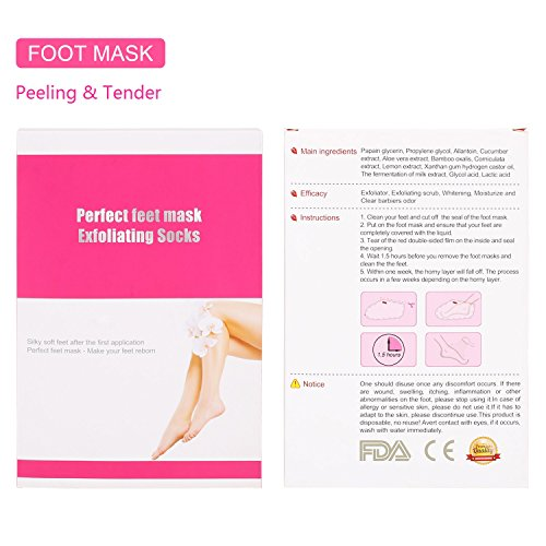 exfoliating foot mask instructions