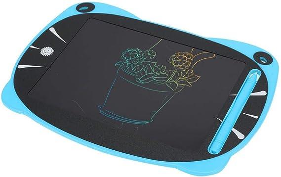 LCDライティングボード8.5インチライティングパッド、ライティングタブレット、かわいいカラーの描画漫画の手描きのタブレットLCD Eライターボード(子供用)(青)