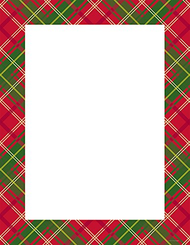 "Great Papers! Country Plaid Letterhead, 80 count, 11"" x 8.5"" (2015054)"