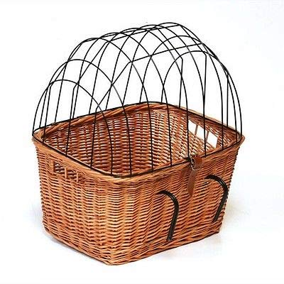 Generic er with Wire Top with Wire th Wire Top Wicker Bicycle Pet Wicker Bi Top r with Traveler Carrier e Pet